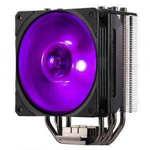 Cooler Master – Hyper 212 RGB Black Edition – Ventilateur de Processeur ( Intel & AMD) 1x Ventilateur 120mm PWM – Eclairage RGB – Noir