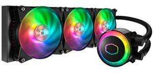 Cooler Master – MasterLiquid ML360R RGB – WaterCooling Processeur AIO (Intel & AMD), 3xVentilateurs MasterFan 120mm Air Balance RGB Adressable, Controleur RGB Adressable (inclus)