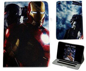 Coque avec Support pour Apple iPad 2/3/4 Iron Man Marvel DC Comics