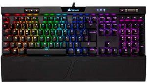 Corsair K70 RGB MK.2 Clavier Mécanique Gaming (Cherry MX Brown: Tactile et silencieux, Rétro-Éclairage RGB Multicolore, AZERTY FR Layout) – Noir