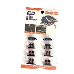 Dailyinshop Enrouleur de Voiture Ligne Fixe Boucle Ligne de données informatiques Multifonctions Ligne Fixe Clamp Beam Clip Set