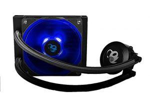 DeepGaming DeepRunny Kit de Refroidissement Liquide CPU Compatible Intel/AMD, Ventilateur de 12 cm, éclairage LED Noir