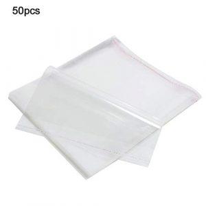Denash Douilles extérieures de Disque Vinyle de 12 Pouces, 50PCS Film étirable de 0,1 mm BOPP Anti-Rayures Sac de Protection de Disque Vinyle Manches extérieures pour LP de 12 Pouces
