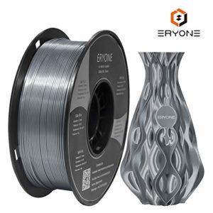Eryone Ultra Silk PLA,1.75mm PLA Filament,3D Printing Filament PLA for 3D Printer and 3D Pen, 1kg 1 Roll (Silver)