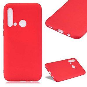 Étui en Silicone TPU Rouge pour Huawei P20 Lite 2019,Cestor Coloré de Couleur Pure Gel Souple Ultra-Mince Coque de Protection Anti-Rayures Etui de téléphone mobile pour Huawei P20 Lite 2019