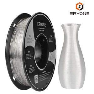 Filament TPU 1,75 mm, filament Eryone TPU 1,75 mm, filament TPU d'impression 3D pour imprimante 3D, 0,5 kg 1 bobine, transparent