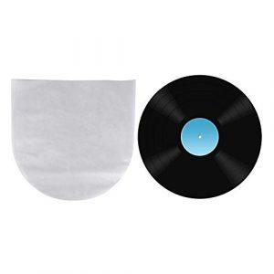 Hakeeta Sac de Protection de Disque Vinyle 50 pièces avec Couche Anti-Cendres et résistance aux Rayures, adapté aux disques LP/LD de 12 Pouces Non Couverts.