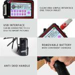 HBRT Imprimante Jet d'encre Portable 600dpi, Imprimante Portable pour Toutes Les Surfaces, l'imprimante de Poche Gun pour vêtements en Verre étiquetage (25,4 mm / 5,0 écran Tactile)