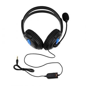 HONGIRY Casque Ps4-001-A avec Micro pour PS4 Sony Play Station 4 / Pc Casques de Jeu stéréo filaires