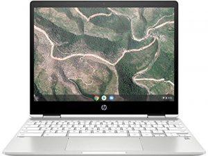 HP Chromebook x360 12b-ca0005nf PC Portable 12» FHD IPS Blanc (Tactile, Intel® Celeron® N4000, 4 Go de RAM, 32 Go de Stockage, Carte graphique Intel® UHD 600, AZERTY, Chrome OS)