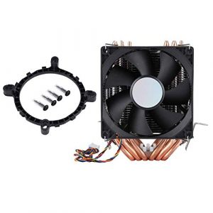Ichiias CPU Cooler Quiet 4pin 6 Heatpipe Dual-Tower Air Cooling 800-2200 Revolutions Heatpipe CPU Cooler