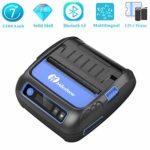 Imprimante d'étiquettes Bluetooth Imprimante Thermique Imprimante d'étiquettes 80mm Portable Mini-imprimante Mobile Imprimante Bluetooth Android iOS