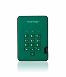 iStorage diskAshur2 256 Bits 8 to USB 3.1 Secure encrypted Solid-State Drive – Green IS-DA2-256-SSD-8000-GN