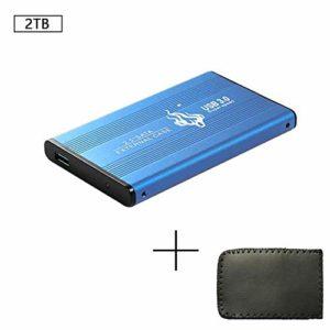 Jakovie 2.5 Pouces Disque Dur Mobile Transfert Rapide de SSD SSD Mobile Haut débit Disque Dur Externe pour PC Portable 2 to Bleu