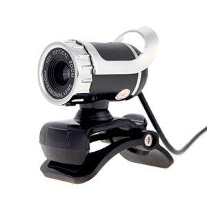 KKmoon Webcam caméra HD USB 2,0 50M Pixels 360°Réglable avec Microphone intégré pour Skype Bureau Ordinateur PC Portable