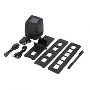 Kongqiabona Scanner numérique Scanner Haute résolution Numérique Convertit Les négatifs USB Diapositives Photo Scan Convertisseur de Film numérique Portable 2,4 Pouces LCD