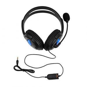 Leoboone Casque Ps4-001-A avec Micro pour PS4 Sony Play Station 4 / Pc Casques de Jeu stéréo filaires
