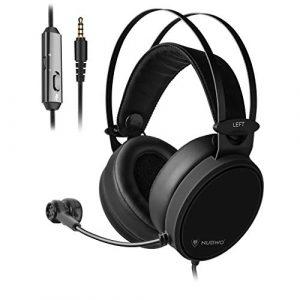 Leoboone Écouteur de Jeu de Casque Non Lumineux N7D avec Casque Micro Unique 3,5 mm