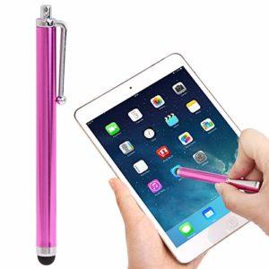 LIUCX Pointe en Fibre Premium Haute sensibilité Tactile Stylo/Stylet capacitif, for l'iPhone 5 et 5S & 5C / 4 & 4S / iPad Air/iPad 4 / iPad Mini/Mini 2 Retina (Color : Magenta)