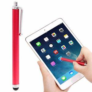 LIUCX Pointe en Fibre Premium Haute sensibilité Tactile Stylo/Stylet capacitif, for l'iPhone 5 et 5S & 5C / 4 & 4S / iPad Air/iPad 4 / iPad Mini/Mini 2 Retina (Color : Red)