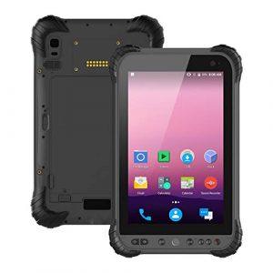 LLC-POWER Rugged Tablet Android 8.1 avec 8.0″ Écran Tactile, Processeur Qualcomm 435 Cortex A53 Octa-Core, 3G + 32 Go, GPS 4G WiFi NFC BT IP67 16 + 5MP Double Caméra, Batterie 8000Mah,Noir