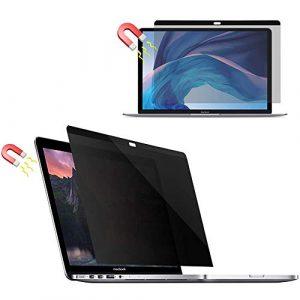 Mberce 13 Pouces Magnétique Filtre de Confidentialité, Film Protection Anti Regard Anti-Bleue pour Macbook Air 13.3″ Pouces (2018 Nouvelle Version: A1932)