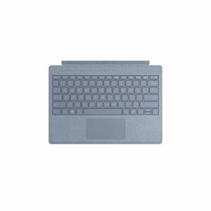 Microsoft – Signature Type Cover pour Surface Pro – clavier compatible Surface Pro 3/4/5/6/7 (Alcantara, rétroéclairage LED, pavé tactile en verre) – Bleu Glacier [Nouvelle couleur 2019] (FFP-00124)