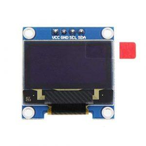 Module d'affichage à Cristaux liquides Couleur 0,96 Pouces OLED Résolution 128 * 64 avec écran à Large Angle de Vision SSD1306 – Blanc