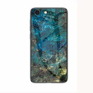 MoreChioce Coque iPhone 7 Marbre Silicone Anti-Rayures Housse Protecteur Marble Transparente Paillette Strass Dur Verre PC Hybrid Rigid Cover Antichoc Bumper compatible avec iPhone 8,Marbre Vert