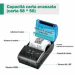 MUNBYN Imprimante thermique portable Mini ticket sans fil Bluetooth 4.0 Imprimante USB
