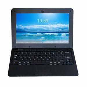 MXECO 10.1 Pouces pour Android 5.0 VIA8880 Cortex A9 1.5GHZ 1G + 8G WiFi Mini Netbook Game Notebook Laptop PC Computer (Black (EU Plug))