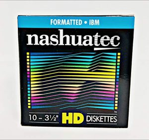Neuf Nashuatec haute densité HD 2Côtés 8,9cm Diskette IBM Formaté 10disquettes par lot pour le rangement des données.