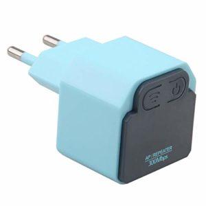 PQZATX 300Mbps sans Fil repeteur 2.4G routeur WiFi Amplificateur de Signal Booster sans Fil Gamme etendre la Couverture WiFi pour la Maison/Prise UE Bouchon