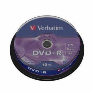 Privé: Verbatim DataLifePlus DVD+R x 10 4.7 Go