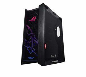 ROG Strix Helios – Boîtier PC gamer fixe compatible RGB, ATX/EATX; renforts pour cartes graphiques ; supports pour radiateurs jusqu'à 420 mm ; Aura Sync