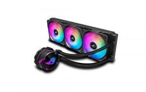 ROG STRIX LC 360 RGB, Cooler CPU All-IN-One ROG, avec éclairage Addressable RGB, Aura Sync, Revêtement de Pompe Ncvm et Ventilateur de Radiateur ROG