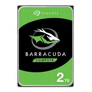 Seagate BarraCuda 2 To, Disque dur interne HDD – 3,5 pouces SATA 6 Gbit/s 7 200 tr/min, 64 Mo de mémoire cache, pour PC de bureau – Ouverture facile (ST2000DMZ08)