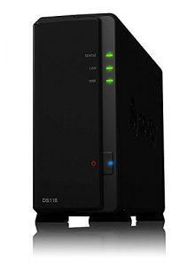 Serveur NAS Tout-en-Un Synology DS118 à 1 Baie, Disque Dur SATA 2.5/3.5″», processeur quadricœur, 1 Go de RAM, GbE, 2X USB 3.0, Noir