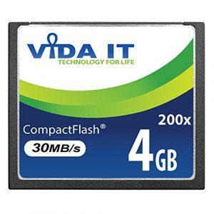 Silicon Power Carte mémoire 4 Go 200x CF pour appareil photo numérique SLR Canon EOS 10D EOS 20D EOS 20Da EOS 300D EOS 30D EOS 350D EOS 400D EOS 40D EOS 50D EOS 5D EOS 5D Mark II EOS 7D EOS D30