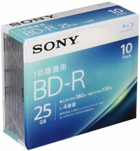 Sony Lot de 10 4 x BD-R 25 GB Blanc Imprimable 10bnr1vjps4