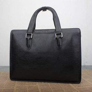 Sunbobo-bag Porte-Documents pour Hommes Sac à Main en Cuir véritable for Homme 13 14 Pouces Sac Porte-Documents d'affaires Sac for Ordinateur Portable Sac Messenger pour Ordinateur Portable