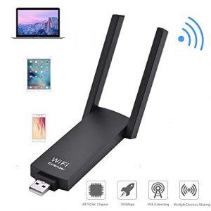 Tosuny Amplificateur WiFi 300 Mbps, amplificateur de Signal répéteur de routeur sans Fil USB avec amplificateur de portée Portable et Signal WiFi, Prise en Charge WPS, Plug and Play