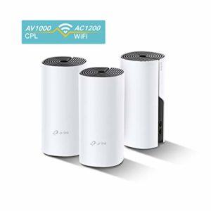 TP-Link WiFi Mesh avec CPL 1000Mbps Deco P9(3-pack) Système Hybride pour toute la maison – Couverture WiFi de 400㎡ – Installation Facile – Contrôle parental – Idéale pour grande maison de murs épais