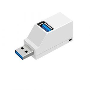 ULTECHNOVO concentrateur USB 3.0 concentrateur 3 Ports Mini déconcentrateur Portable concentrateur d'extension concentrateur USB Direct