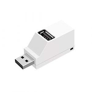 ULTECHNOVO Mini déconcentrateur Portable concentrateur USB 2.0 hub 3 Ports concentrateur USB Direct hub Extension