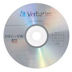 VERBATIM DVD + R 16x Pearl White DVD rohlinge Pack de 50