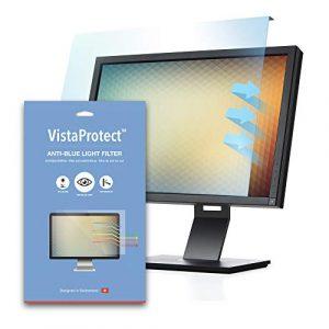 VistaProtect – Filtre Anti-Lumière Bleu Premium pour Écran d'Ordinateur & Moniteur PC, Amovible (26″ – 27″ Pouces)