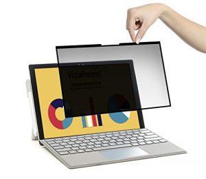 VistaProtect – Filtre de Confidentialité Premium Amovible, Film Protection Anti Regard pour Écran de Microsoft Surface Pro 7/6/5/4/3 (12.3″ Pouces)