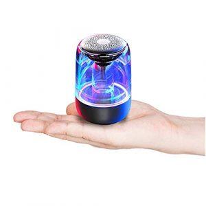 yaya Mini Haut-parleurs Clignotants Colorés, Pouvant êTre Utilisés Jusqu'à 12 Heures sur Une Seule Charge, Et avec Un Son Surround 6D