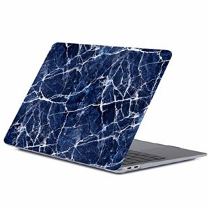yiyiter Coque de Protection Ultra Fine en marbre pour MacBook Air 13 avec Motif marbre Mat pour Ordinateur Portable MacBook Air 13″ Transparent